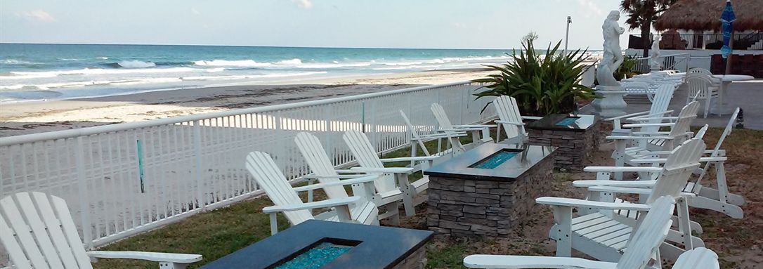 Fire Pits at Emerald Shores Hotel in Daytona Beach