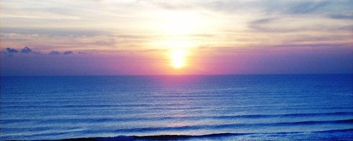 Sunset on Daytona Beach at Emerald Shores Hotel