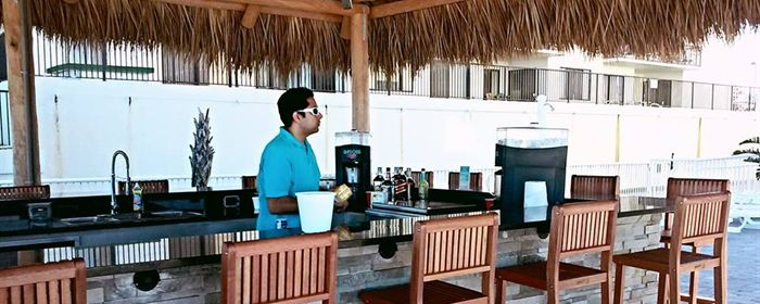 The Tiki Bar at our Daytona Shores hotel