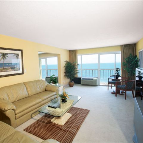 Inside our luxurious two bedroom suite overlooking the ocean in Daytona Beach Shores