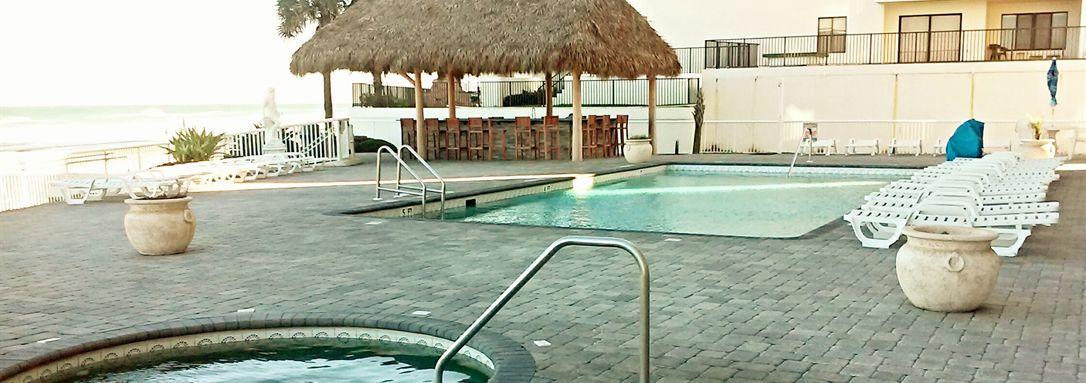 Go For A Swim In Our Pool Overlooking Daytona Beach
